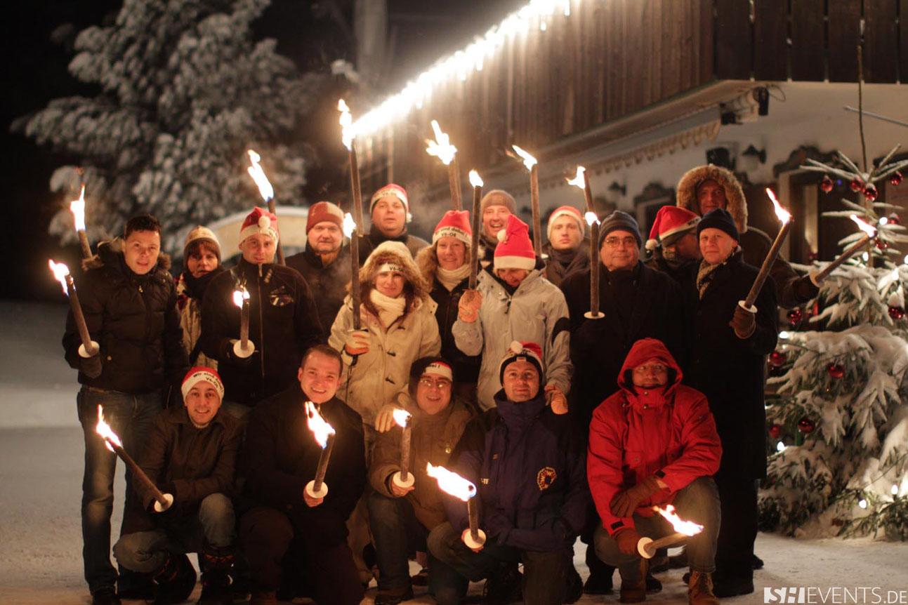 Feiern Sie Ihre Weihnachtsfeier in den Alpen